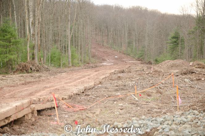 A swath cuts through Loyalsock State Forest for a natural gas pipeline
