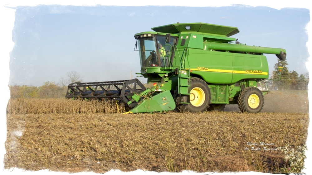 It is fall and time to harvest soybeans and other crops.