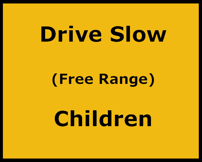 Drive Slow Children sign