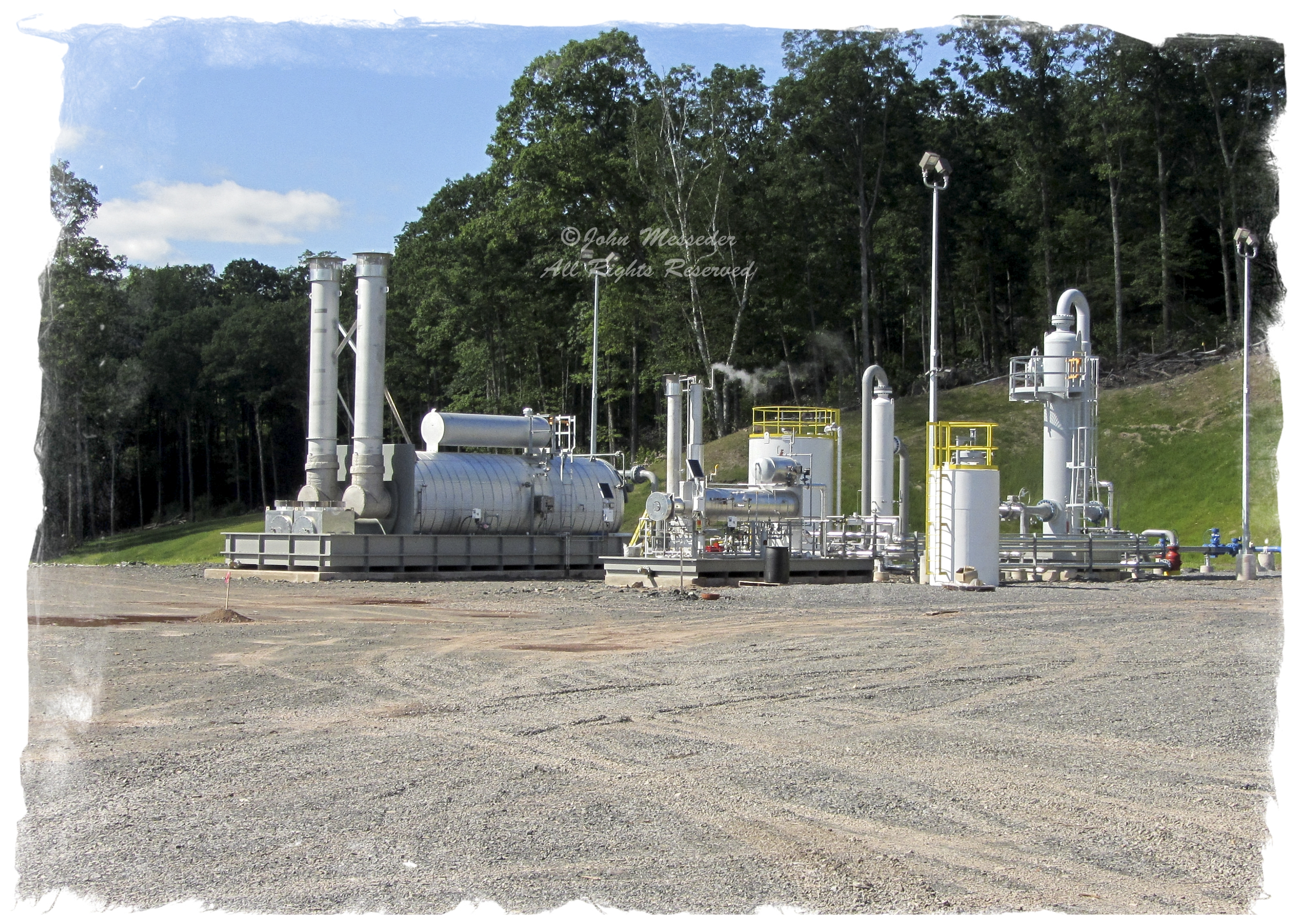 Hidden among the trees of PA forests, natural gas transport facilities push gas to export and methane to the air.