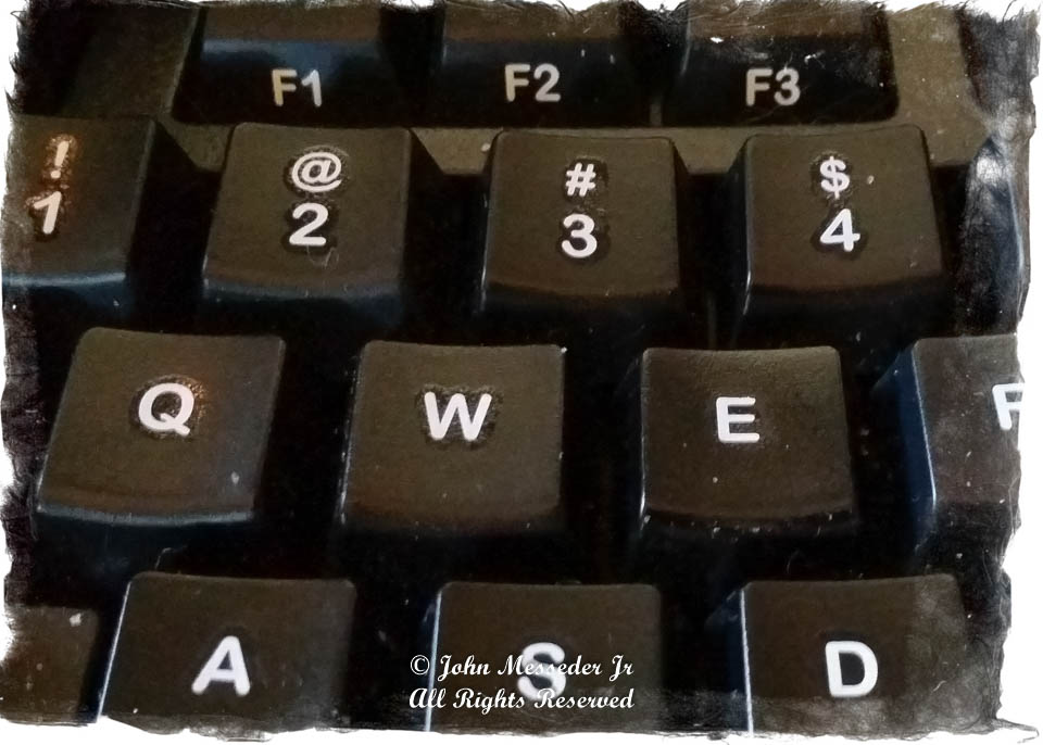 Left portion of a computer keyboard