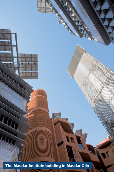 Masdar, a city in the middle of a desert with zero carbon emissions