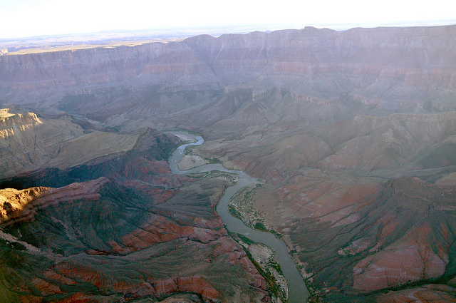 The Colorado River took a very long time to carve this ditch in the planet's surface.